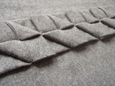 Beautiful Fabric Manipulation: box pleat variations, surface texture & pattern creation - Ruth Singer #textiles