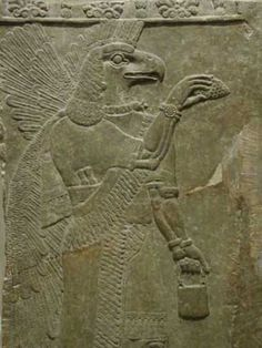 Sumerian Gods Create Bloodlines Seeding the Tree of Life with a Device The entity wears a bird-headed mask and feels feminine.