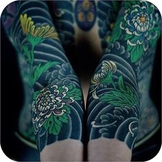 From demons to waves and more discover the top 121 best Japanese sleeve tattoos. Explore cool traditional irezumi ideas from shoulder to wrist. Japanese Flower Tattoo, Japanese Tattoo Designs, Japanese Sleeve Tattoos, Flower Tattoo Designs, Tattoo Designs Men, Flower Tattoos, Chinese Tattoos, Arabic Tattoos, Japanese Flowers