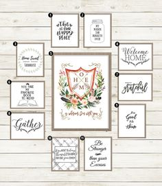 """I feel a little like a fraud writing this post. Here I am, writing about free farmhouse printables. Have we met? DoI seemlike the kind of person who decorates with giant white-washed signs that say """"Family""""and beats upwood with a hammer? Actually, that hammer thing does sound kind of fun … Anyway. Farmhouse style may not be my personal jam, but do you know what is? The show Fixer Upper. Because Joanna and Chip Gaines, obviously. They remind me of my Texas family. Hi, if you're reading…"""