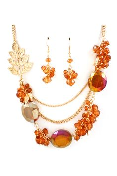 Crystal Lilly Necklace in Sunset