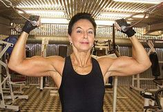 72 year old Swedish fitness enthusiast Wanja Sjodin defies all concept of age. A former model, she started weight training at age 47 and ran her first marathon when she was 50. - femalemuscle.com