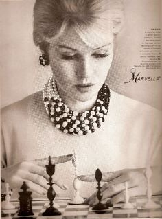 Marvella vintage jewelry ad  1960. Vintage jewelry ad. inspiration brought to you by www.aussiebeader.com