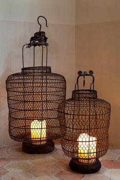 lanternas de arame