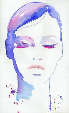 Mode-Illustration Mode-Druck Aquarell Mode Fashion Poster Source by rufirmgard Makeup Illustration, Illustration Sketches, Watercolor Illustration, Watercolor Art, Illustration Fashion, Fashion Illustrations, Fashion Sketches, Painting Illustrations, Sketch Art