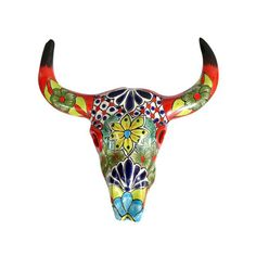 Western Decor & Cowboy Gifts from Lone Star Home Decor Dot And Bo, Cow Skull, Sheep Skull, Skull Head, Skull Art, Cow Head, Talavera Pottery, Skull Painting, Southwestern Decorating