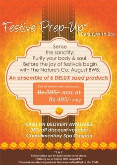 """Our August Beauty Wish Box Theme is out- """"Festive Pre-Up"""" Subscribe now: http://bit.ly/1mTKtxP"""
