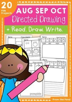 Directed Drawing & Writing Packet - August, September and October