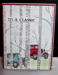 "Hello Stampers    Did you know how much I love a good challenge? Well I sure do! Last Monday my friend Steph B send me a card that is similar to this one and ask me ""Do you know how to make these car"