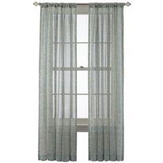 Royal Velvet Cordial Print Rod Pocket Back Tab Curtain Panel Jcpenney Tab Curtainsliving Room