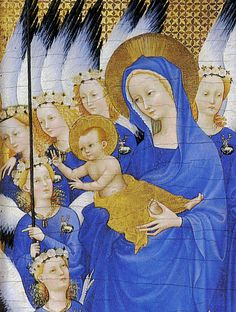 The Wilton Diptych, English or French (?), egg on oak, ca. 1395-99, The National Gallery, London.