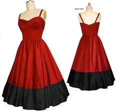 Cotton 1950s Vintage Style Dress... your Colors...your Measurements...