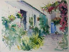 "Photo from album ""Blanca Álvarez"" on Yandex. Watercolor Sketch, Watercolor Artists, Watercolor Landscape, Watercolour Painting, Landscape Paintings, Landscapes, Watercolors, Pictures To Paint, Cool Pictures"