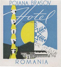 Sport Hotel, Poiana Brasov luggage label via flickr