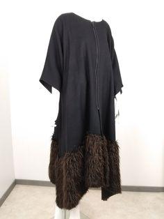 Manteau kimono Kimono Top, Tops, Women, Fashion, Kimono Coat, Faux Fur, Wool, Moda, Fashion Styles