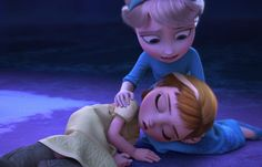 Spoiler: It does not end well, as Elsa accidentally hits Anna with some ice magic.