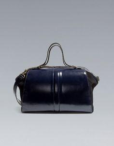 Zara: Antik Leather Combined Bowling Bag