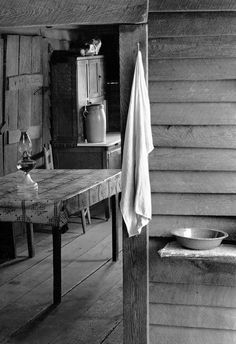 Farmer's Kitchen, Hale County, Alabama, 1936  photographer, Walker Evans
