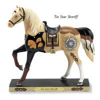 Trail of Painted Ponies Tin Star Sheriff Statue