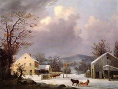 Jones Inn, Winter - (George Henry Durrie)