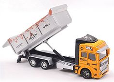 Vidatoy 148 Diecast Transport Truck Construction Toy Vehicle For Kids >>> Read more reviews of the product by visiting the link on the image.