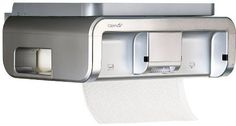 This is a No-Touch Paper Towel Dispenser that works! The CLEANCut Touchless Paper Towel Dispenser uses any brand of store-bought paper towel and uses LED Breaking Beam Technology to cut paper towels to any length, regardless of perforation. Cool Kitchen Gadgets, Cool Kitchens, Paper Towel Holder, Towel Holders, Self Storage, Under Cabinet, Kitchen Colors, Kitchen Storage, Space Saving