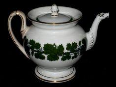 Unattributed English bone china/Porcelain duck neck spout c.1830