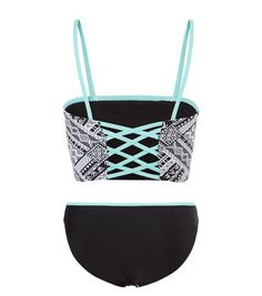 Teens Black Aztec Print Tankini Set | New Look