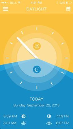 Daylight App ios7  –Anke Mackenthun