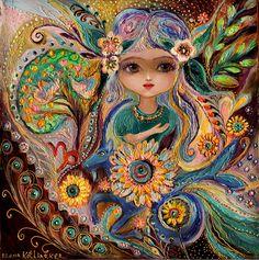 Las hadas de la Serie del zodiaco - Pintura Capricornio