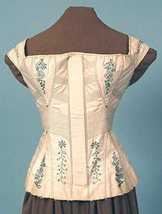 blue/white corset