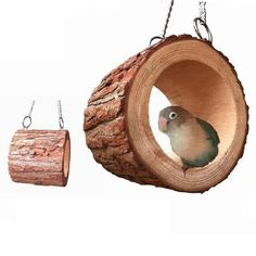 Round Wooden Hanging Swing House Cage for Mouse Rat Parrot Pet Bird Cat Hamster #Unbranded