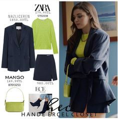 Hande Ercel, Turkish Actors, Girl Face, Beautiful Actresses, Most Beautiful, Costumes, Fashion Outfits, Skirts, Outfits Primavera