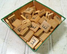 Vintage Scrabble Game E  H Letter Tiles  Wooden E by DivineOrders, $17.00