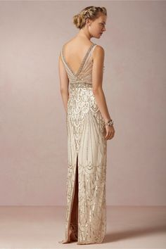 Maxine Gown BHLDN $800.00 :: 1920s Art Deco Great Gatsby wedding dress
