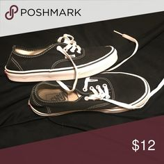 04bff7d1d4 Shop Women s Vans Black White size Sneakers at a discounted price at  Poshmark. Description  My daughter wore these all the time