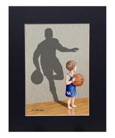 Another great find on #zulily! Kentucky Wildcats Basketball Player Print #zulilyfinds