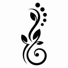 Flowers Lines Dots Wall Sticker In 6 sizes – … – Flower Ideas Stencil Patterns, Stencil Art, Stencil Designs, Embroidery Patterns, Nail Art Designs, Page Borders Design, Border Design, Henna Tattoo Designs, Mehndi Designs