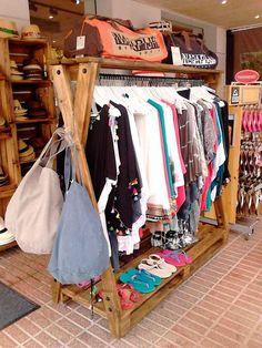 Pin on Shop Ideas ❤️ Pin on Shop Ideas ❤️ Clothing Store Interior, Clothing Store Design, Boutique Clothing, Wood Clothing Rack, Diy Clothes Rack, Wooden Clothes Rack, Boutique Decor, Boutique Interior, Boutique Ideas