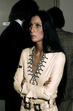 young Cher with Squash Blossom necklace