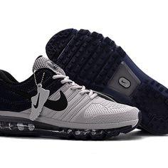 Nike Air Max 2017 Men Black Grey Running Shoes