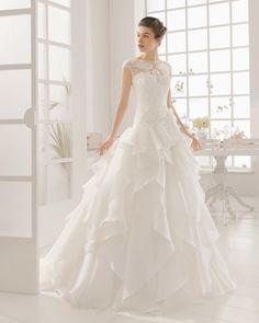 MELIA vestido de novia de Aire Barcelona 2016