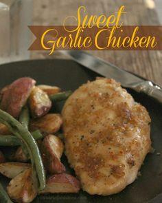 Sweet Garlic Chicken - garlic and brown sugar make this easy and delicious!