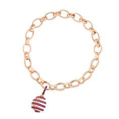 Fabergé Spiral Ruby Charm #Fabergé #ruby