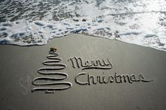 Christmas in the sand by SAYitintheSAND on Etsy, $15.00