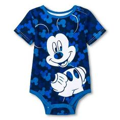 Disney Mickey Mouse Newborn Boys  Bodysuit - Blue c0a15665caee