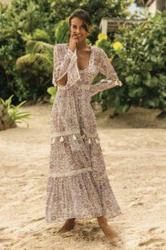 Bohemian maxi dress, boho style clothing, boho-chic clothes, gypsy summer long dress on boho boutique Mode Hippie, Mode Boho, Hippie Style, Bohemian Style, Bohemian Gypsy, Vintage Bohemian, Boho Summer Dresses, Boho Dress, Maxi Dresses