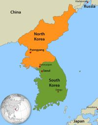 Korea declared war in 1951 after Northern forces stream south. No one won the war but the war led to the division of Korea of the north and the south
