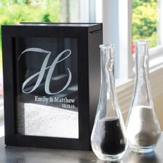 Personalized Unity Sand Ceremony Shadow Box Set.  This is so cute I'm getting this for my sand ceremony.