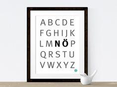 TypoPrint   NÖ Alphabet  von crownprintcess auf DaWanda.com